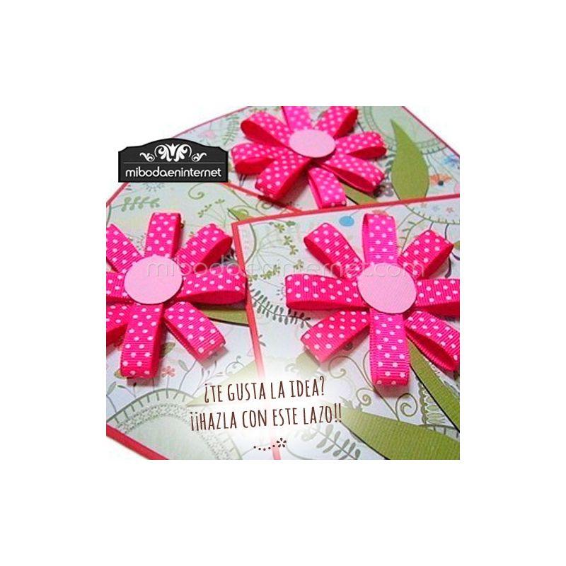 Cinta Tergal Fantasía Rayada florecitas 1,5 cms