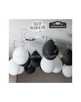 Globos Negros Decoración -pack 5 ud