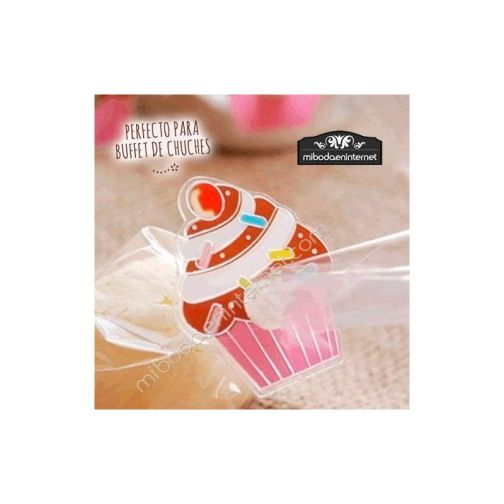 Cierre decorativo Cupcake pack 5 ud