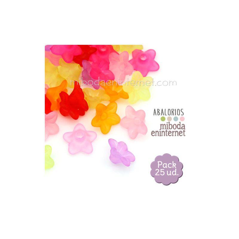 Acrílico efecto hielo espaciador flor Pack 25 ud