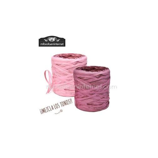 Rafia Vintage Rosa Grana - precio por metro