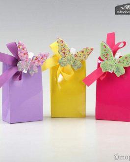 Pinzas Mariposas Multicolor Metal en caja