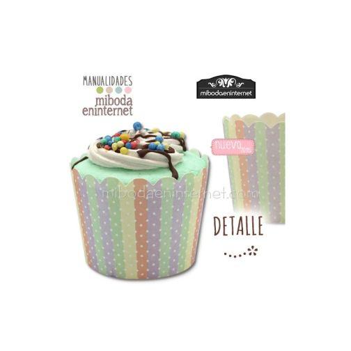 Caja decorada Cupcake con tapa