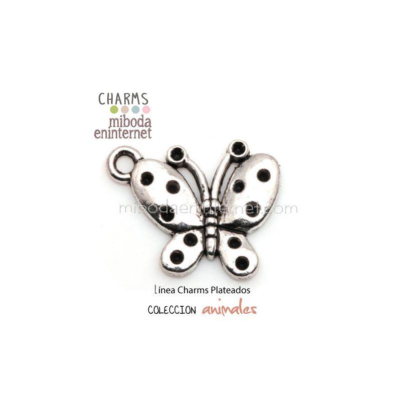 Charm Mariposa plata 22x19mm
