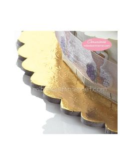 Base metalizada dorada 35 cms