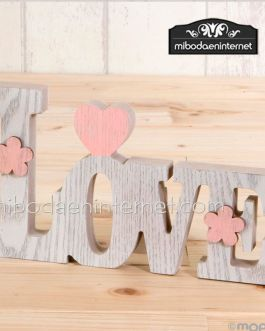 Decoración madera LOVE  20 cms.