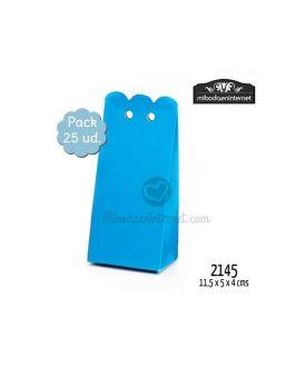 P25 Caja Rectangular Ondas Azul