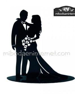Figura pastel metal Enamorados