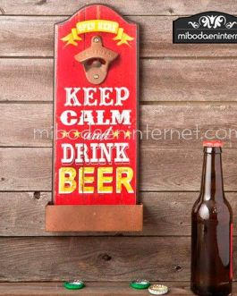Abridor de botellas de pared Keep Calm