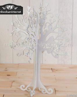 Árbol Joyas madera lacado blanco 40 cms