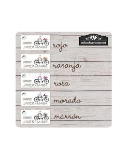 Etiqueta Detalle Boda Bicicleta