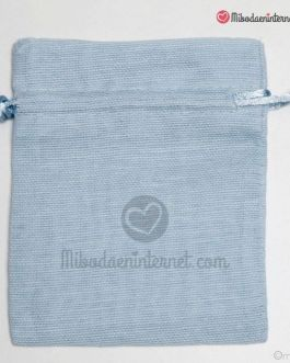 Bolsas Algodón Azul 10 x 12.5 cms