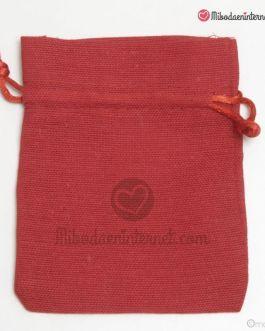 Bolsas Algodón Roja 10 x 12.5 cms