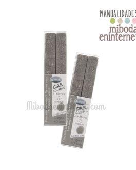 2 barras lacre gota plateado metalizado Aladine