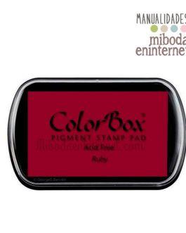 Tampon de Tinta Colorbox Rojo Burdeos Rubi sin ácido