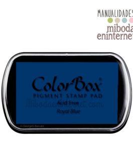 Tampon de Tinta Colorbox Azul Royal blue sin ácido