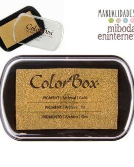 Tampon de Tinta Colorbox metalizado oro sin ácido