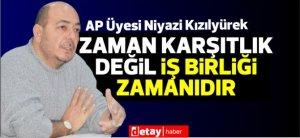Το μέλος του AP Niyazi Kızılyürek επισκέφθηκε την Ένωση Παραγωγών και Κτηνοτρόφων