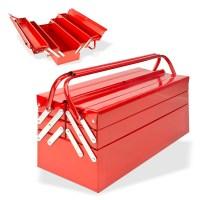 Metall Werkzeugkasten rot inkl. 69 tlg Werkzeug
