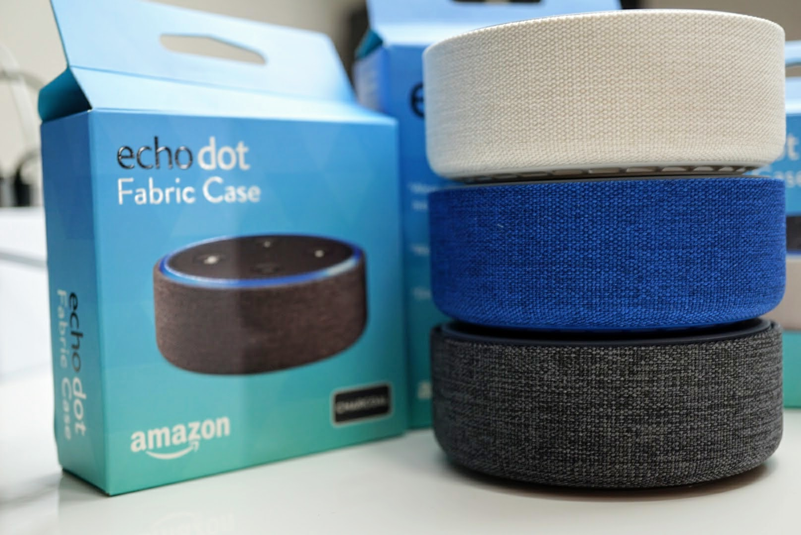 the amazon echo dot covers are a great way to dress up your smart
