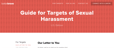 BetterBrave: A Website That Helps Women Combat Sexual Harassment In The Workplace
