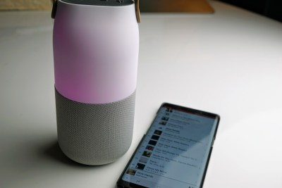 Samsung Wireless Speaker Bottle design: A party lamp and speaker all in one package (review)