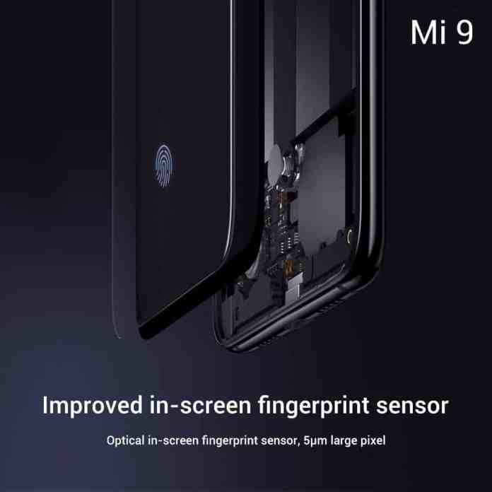 mi9 fingerprint scanner