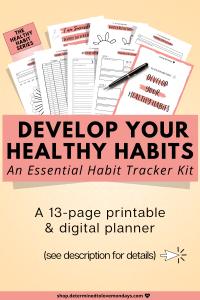 Develop Health Habits ~ Habit Tracker Kit