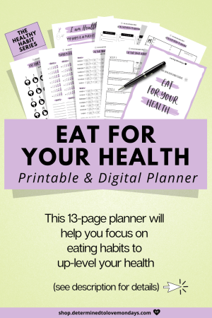 Improve your diet and fitness habit tracker planner kit