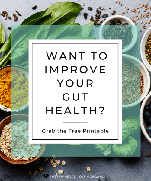 Want to Improve Your Gut Health? Free Printable Provided