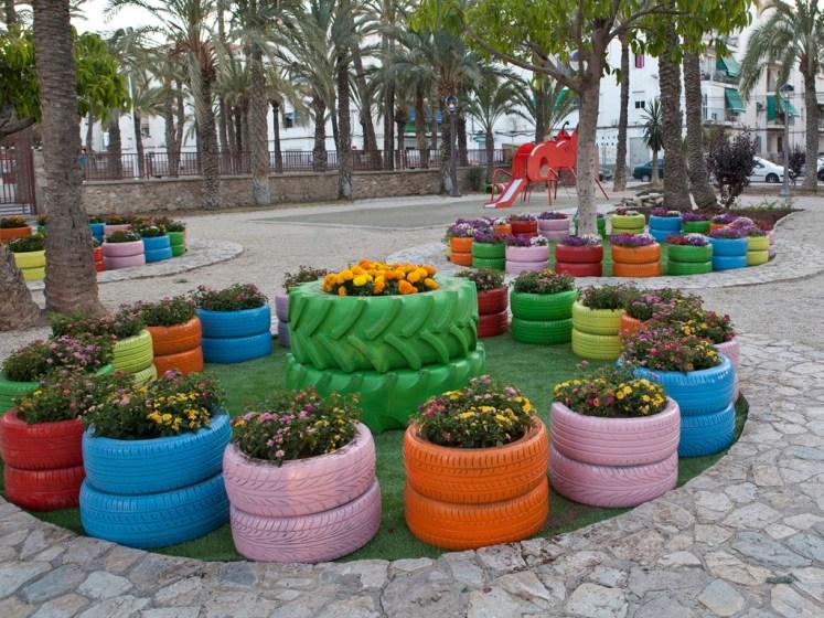 Tips para decorar el jardín con elementos reciclados