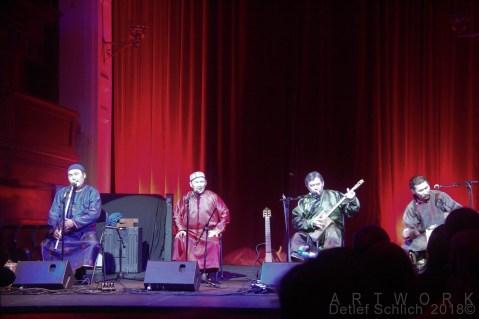 With Radik Tyulyush, Kaigal-ool Khovalyg, Sayan Bapa and Alexey Saryglar at Triskel Arts Centre.