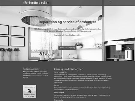 Microsite for Eviteq Elinstallation