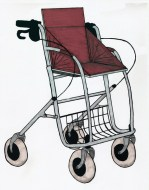 Mobilität ist ein wichtiger Bestandteil des Lebens, wichtig um soziale Kontakte zu knüpfen und zu halten. Im Alter ist es jedoch auch ein wachsendes Problem. Während man kurze Stecke mit Hilfe eines handelsüblichen Rollators noch bewerkstelligen kann, werden längere Ausflüge, beispielsweise mit der Familie, undenkbar. Eine Möglichkeit wäre auf einen Rollstuhl zurück zugreifen, aber wer will das schon, wenn man eigentlich noch laufen kann? Hier schafft der TRIP SEAT, ebenso wie der Nachrüstsatz, Abhilfe. Die zugeklappte Box eignet sich um kleinere Einkäufe zu transportieren, die rausnehmbare Tasche erspart einem das mühsame Umpacken. Wenn ein Ausflug geplant ist lässt sich die Box zu einem gepolsterten Sitz ausklappen, mittels Armstützen ist ein sicheres Aufstehen und Hinsetzen garantiert. Fußstützen unterstützen den bequemen Sitz. Die Tasche kann derweil an einem Haken unter dem Sitz angebracht werden. Um diese Möglichkeiten auch an einem bereits vorhandenen Gerät nutzen zu können, gibt es die Box auch als Nachrüstsatz, wo man jedoch berücksichtigen sollte, dass je nach Bauart auf Arm- und Fußstützen verzichtet werden muss. Mittels festziehbaren Schrauben lässt sich die Nachrüstbox sicher anbringen. Durch Schraubzwingen wird der Nachrüstsatz TRIP SEAT BOX fest auf einer vorhanden Sitzfläche eines Rollators befestigt, hierbei sind die Sitzhöhen besonders zu beachten, da sonst ein Hinsetzen schwierig werden kann. Durch den abwaschbaren Bezug der Polster ist eine leichte Reinigung möglich. Die Seitenwände des Sitzes schützen zudem vor Zugwind von der Seite, was sonst Probleme mit den Nieren zur Folge haben könnte. Die Tasche ist bei beiden Modellen vorhanden und rausnehmbar. Bei dem Rollator TRIP SEAT sind außerdem Armstützen vorhanden, welche durch gummierte Oberfläche einen sicheren Halt geben. Hier sind die Box und das Gestell fest ab Werk verschraubt.