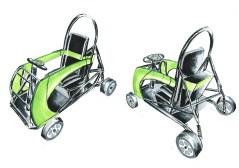 """Mit """"Slomox"""" soll es in Zukunft möglich sein, auch Scooter-Touren anzubieten. """"Slomox"""" ist ein Fahrzeug, das sowohl im Gelände als auch in der Stadt einen guten Eindruck macht. Die Maximalgeschwindigkeit von 15 km/h sorgt für mehr Fahrspaß bei Jung und Alt."""
