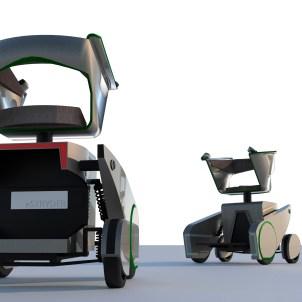 """Der """"eSTRYDER"""" ist ein funktionales und ökologisches Mobilitätswerkzeug, welches sich vom Dogma des E-Scooter als reiner Krankenfahrstuhl befreit und sich dadurch einer größeren Nutzergruppe attraktiv macht. Er zeichnet sich besonders durch sein großes Einsatzgebiet und die verbesserte Sitzposition aus."""