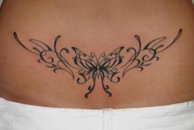 Tatuajes En La Espalda Baja De Mariposas