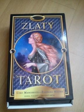 Zlatý tarot- C. Marchetti a B. Moore - nádherné tarotové karty