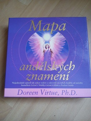 Mapa andělských znamení- Doreen Virtue. nevíte jak dál, jak se rozhodnout? tato mapa obsahuje figurky a kostky a pomůže vám nasměrovat správným směrem.