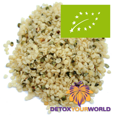 Shelled hemp seeds, certified organic