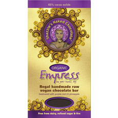 Empress raw chocolate bar, raw, unsprayed, vegan
