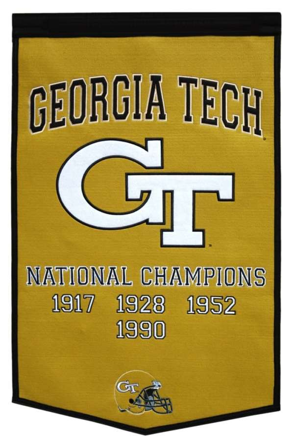 Georgia Tech Yellow Jackets 24quotx36quot Wool Dynasty Banner