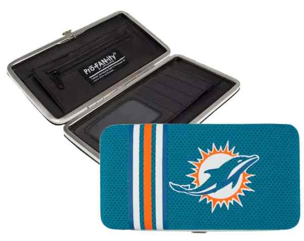 Miami Dolphins Shell Mesh Wallet - Detroit Game Gear