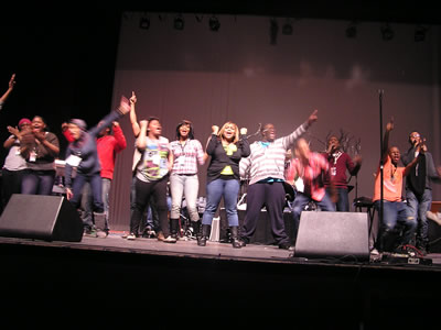 Bold Right Life (BRL) rehearses before the Live Recording