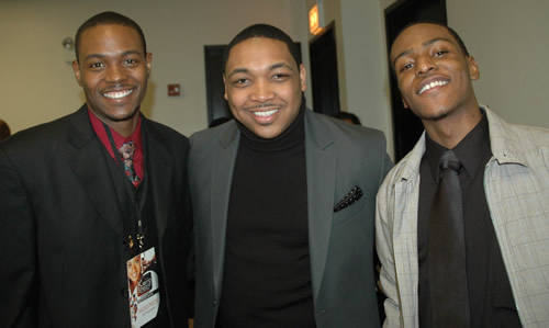Rick Lee, Pastor Welton Smith IV, and Hatten Young at Kierra Sheard Live Recording