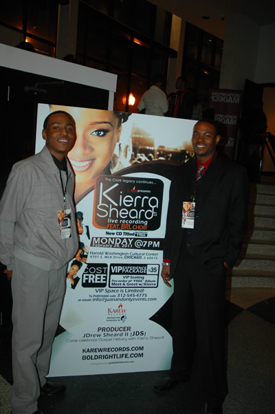 DetroitGospel.com staffers, Hatten Young and Rick Lee at Kierra Sheard Live Recording