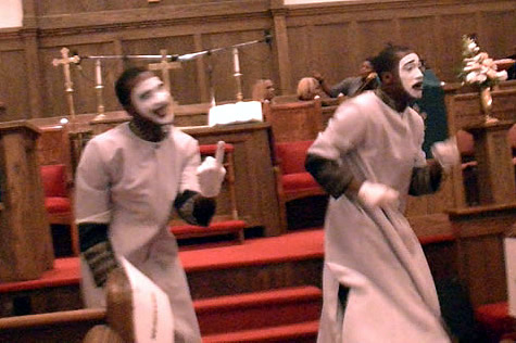 Split-N-Image Mime Ministry (twin brothers Erick & Derrick Gregory)