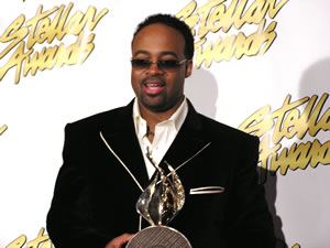 J Moss w/ 1 of 3 Stellar Awards of the evening