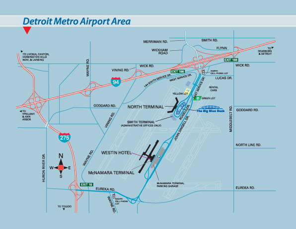 Metro Detroit Traffic Map.Map Detroit Airport Detroit Metro Airport Arrivals Departures