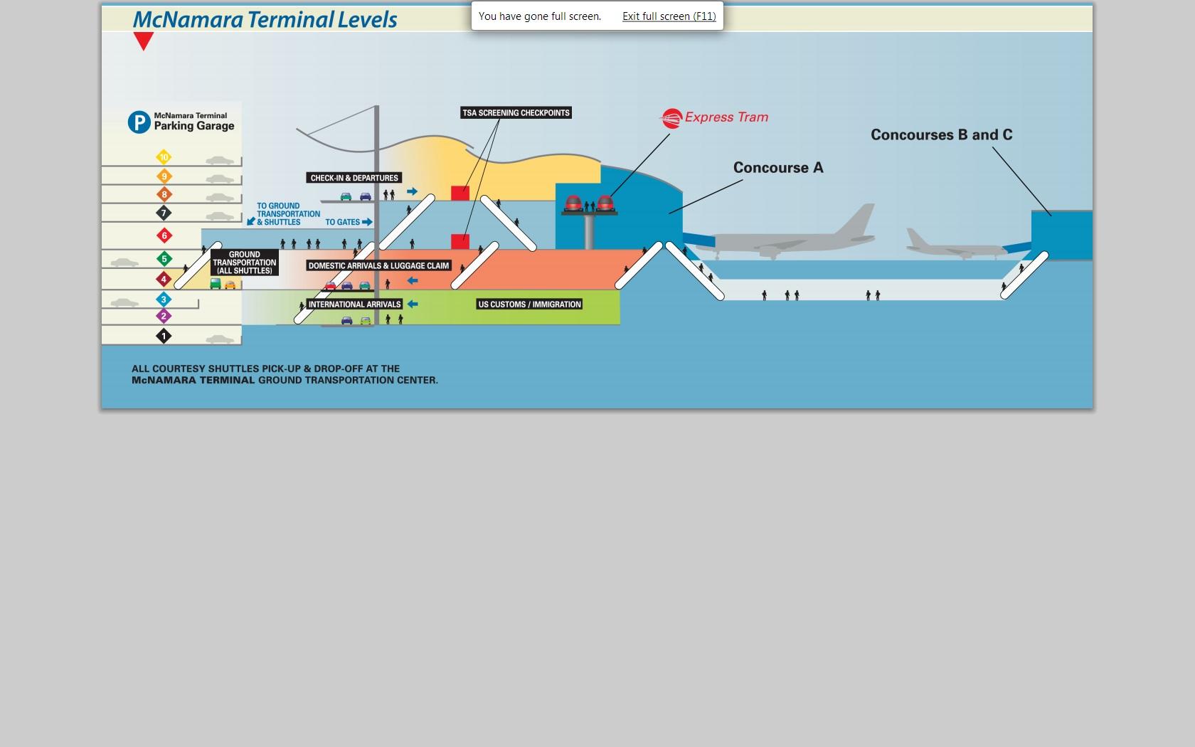Map Detroit Airport Detroit Metro AirportArrivals Departures